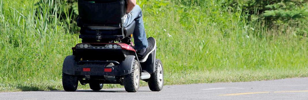 scooter electrique pour senior rouge